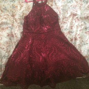 Semi formal knee length dress